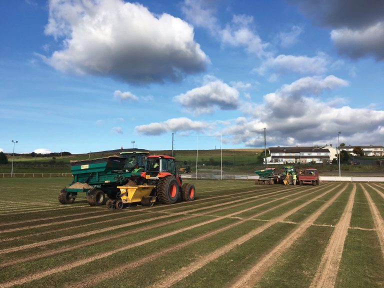 Sand Slitting Haffey Sports Grounds